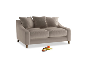 Small Oscar Sofa in Fawn clever velvet