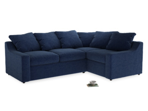 Large Right Hand Cloud Corner Sofa in Ink Blue wool
