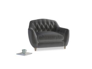 Love Seat Butterbump Love Seat in Steel clever velvet