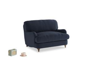 Jonesy Love seat in Indigo vintage linen