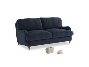 Small Jonesy Sofa in Indigo vintage linen