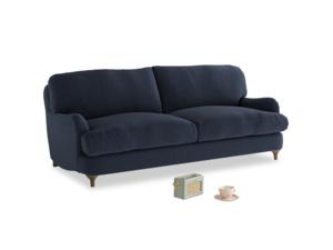 Medium Jonesy Sofa in Indigo vintage linen