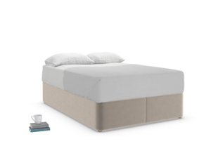 Double Store Storage Bed in Fawn clever velvet