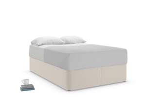 Double Store Storage Bed in Buff brushed cotton