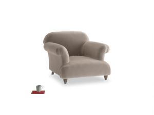 Soufflé Armchair in Fawn clever velvet