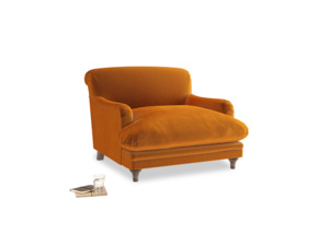 Pudding Love seat in Spiced Orange clever velvet