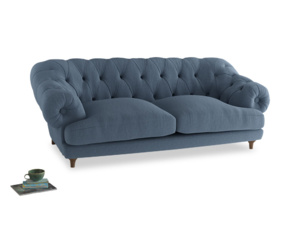 Large Bagsie Sofa in Nordic blue brushed cotton