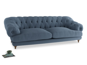 Extra large Bagsie Sofa in Nordic blue brushed cotton