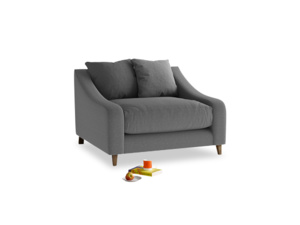 Oscar Love seat in Ash washed cotton linen