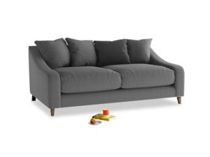Medium Oscar Sofa in Ash washed cotton linen