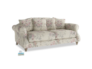 Medium Sloucher Sofa in Pink vintage rose
