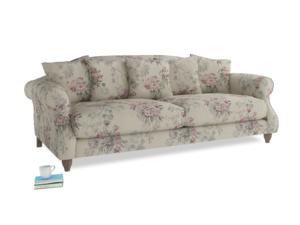 Large Sloucher Sofa in Pink vintage rose