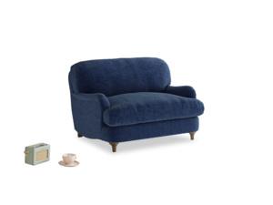 Jonesy Love seat in Ink Blue wool