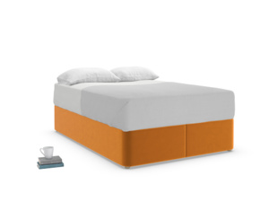 Double Store Storage Bed in Spiced Orange clever velvet