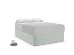 Double Store Storage Bed in French blue brushed cotton