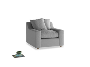 Cloud Armchair in Magnesium washed cotton linen