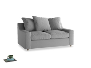 Small Cloud Sofa in Magnesium washed cotton linen