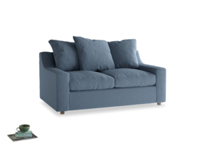 Small Cloud Sofa in Nordic blue brushed cotton