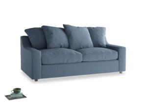 Medium Cloud Sofa in Nordic blue brushed cotton