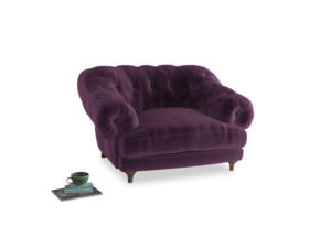 Bagsie Love Seat in Grape clever velvet