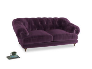 Medium Bagsie Sofa in Grape clever velvet