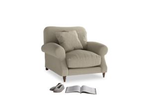Crumpet Armchair in Jute vintage linen