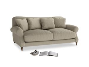 Medium Crumpet Sofa in Jute vintage linen