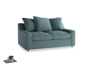 Small Cloud Sofa in Marine washed cotton linen