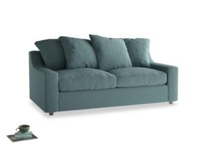 Medium Cloud Sofa in Marine washed cotton linen
