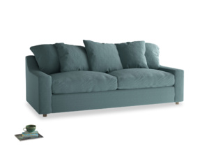 Large Cloud Sofa in Marine washed cotton linen