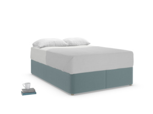 Double Store Storage Bed in Marine washed cotton linen