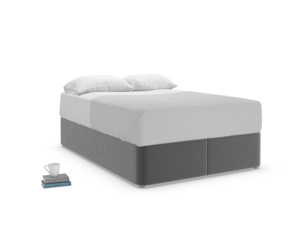 Double Store Storage Bed in Steel clever velvet