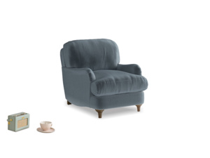 Jonesy Armchair in Mermaid plush velvet