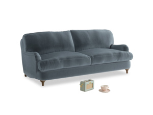 Medium Jonesy Sofa in Mermaid plush velvet