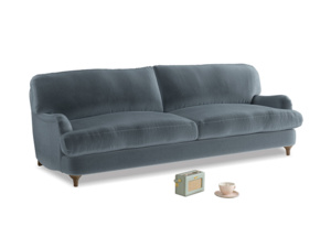 Large Jonesy Sofa in Mermaid plush velvet