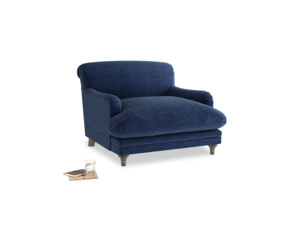 Pudding Love seat in Ink Blue wool