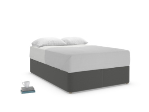 Double Store Storage Bed in Shadow Grey wool