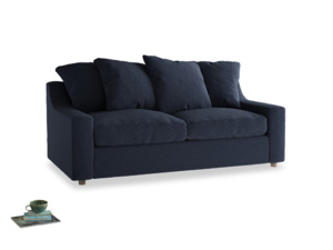 Medium Cloud Sofa in Indigo vintage linen