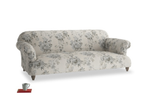 Large Soufflé Sofa in Dusty Blue vintage rose