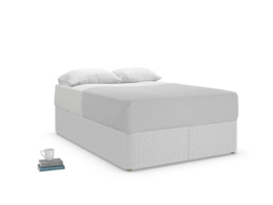 Double Store Storage Bed in Pebble vintage linen