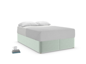 Double Store Storage Bed in Mint clever velvet