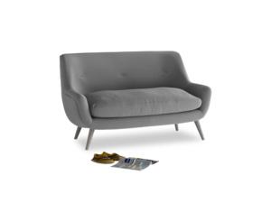 Small Berlin Sofa in Gun Metal brushed cotton