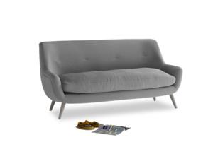 Medium Berlin Sofa in Gun Metal brushed cotton