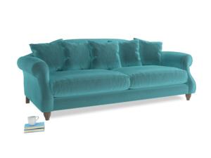 Large Sloucher Sofa in Belize clever velvet