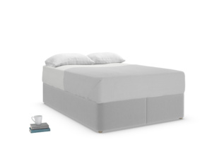 Double Store Storage Bed in Magnesium washed cotton linen
