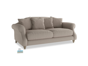 Medium Sloucher Sofa in Driftwood brushed cotton