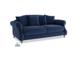 Medium Sloucher Sofa in Ink Blue wool