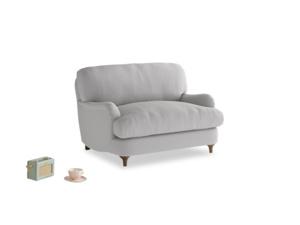 Jonesy Love seat in Flint brushed cotton