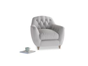 Butterbump Armchair in Flint brushed cotton