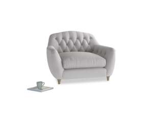 Love Seat Butterbump Love Seat in Flint brushed cotton